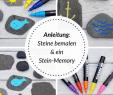 Garten Dekosteine Schön Diy Ein Steinmemory Für Kinder Aus Bemalten Steinen Auf