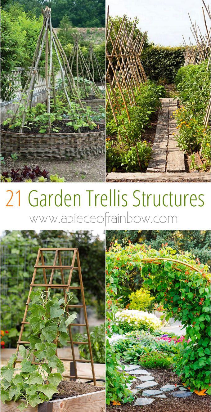 Garten Diy Schön 21 Easy Diy Garden Trellis Ideas & Vertical Growing