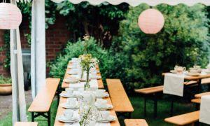 37 Schön Garten Hochzeit Deko