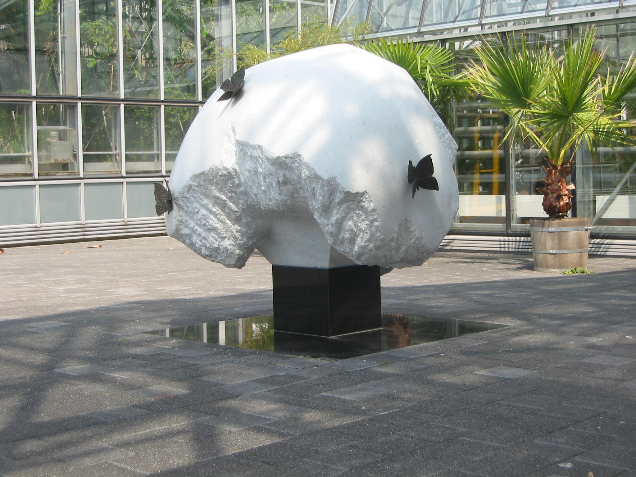 Garten Statue Elegant File Schmetterlingsbaum Botanischer Garten Leipzig
