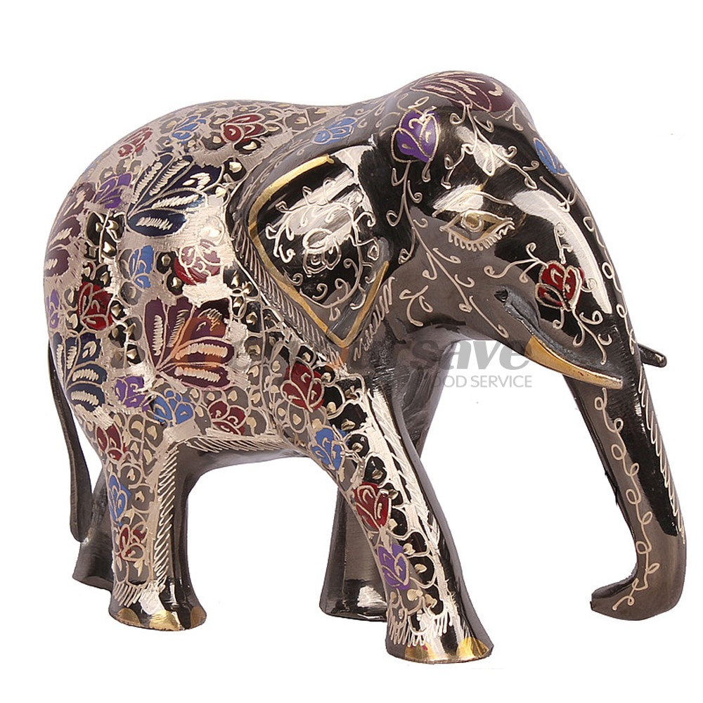 Brass 8 3 Elegant Elephant Trunk Statue Lucky Figurine Gift Home Decor