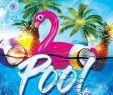 Gartenartikel Luxus Pool Party Flyer