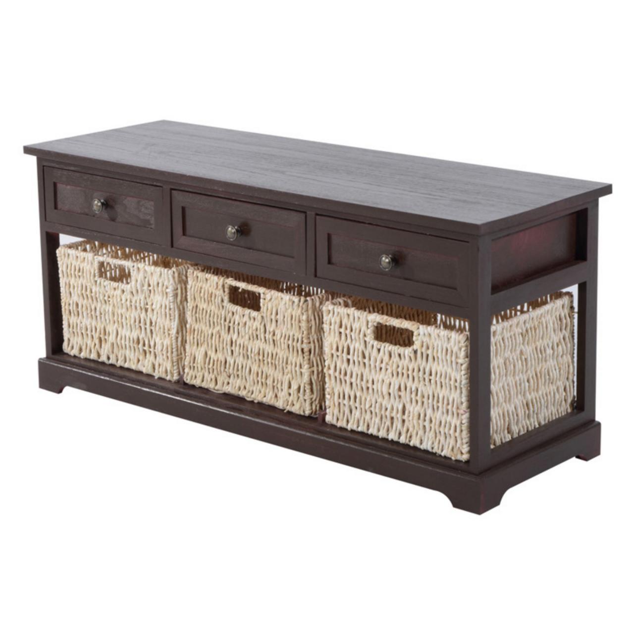 bench with storage baskets hom 40 in wicker basket storage bench products durch bench with storage baskets