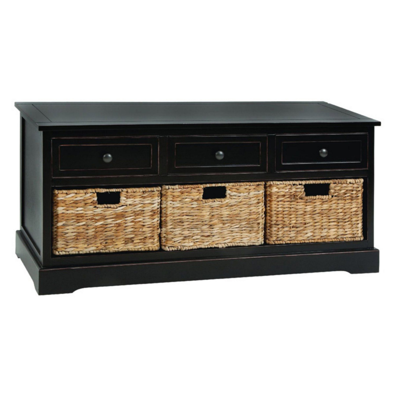 bench with storage baskets 3 drawer wood and wicker basket bench 42w x 20h in in 2019 durch bench with storage baskets