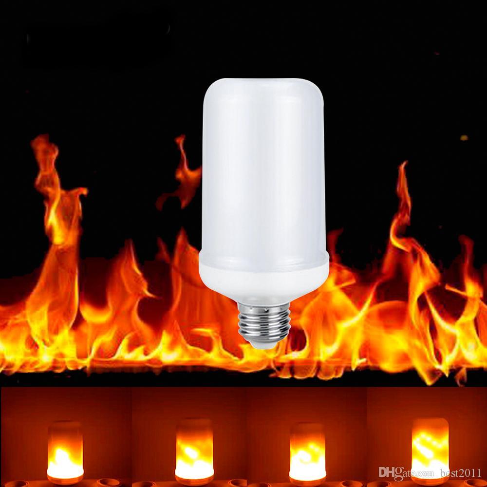 e27 e26 2835 led flammeneffekt feuer gl hbirnen