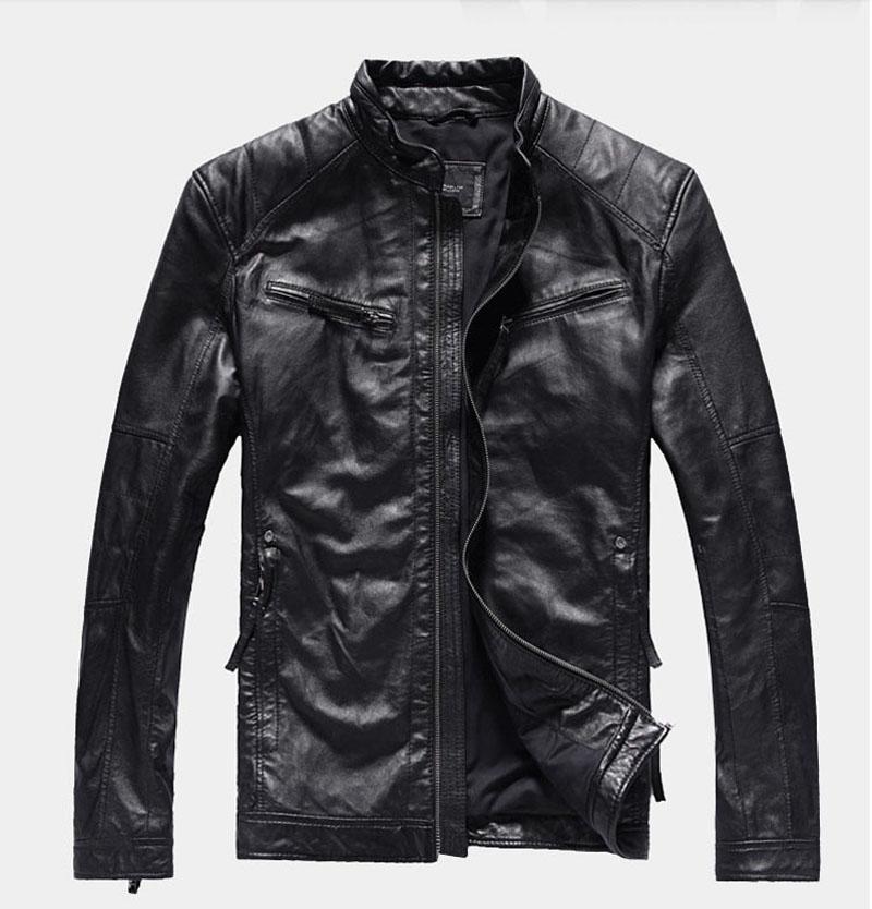 Gartendeko Aus Holzstämmen Best Of Genuine Leather Clothing Men Slim Stand Collar Short Design Men