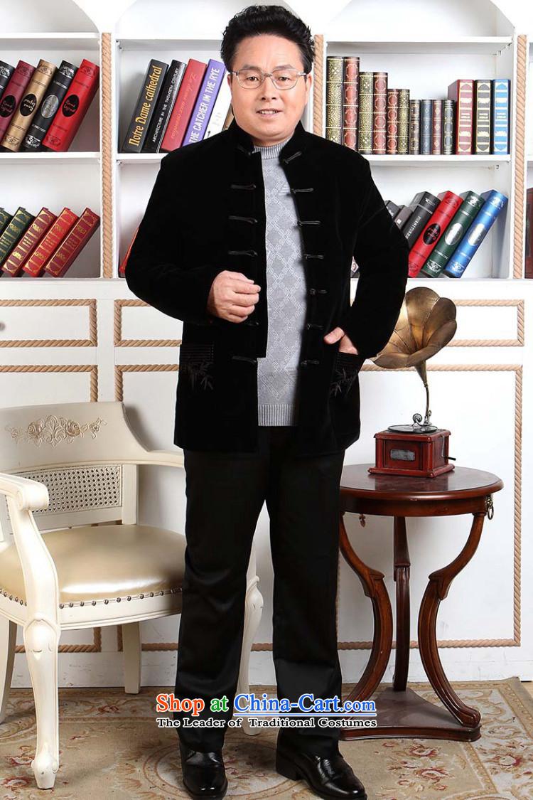 d a=joseph pang men tang dynasty long sleeved sweater in tang dynasty collar older men robe scouring pads made wedding dress black聽m&d=