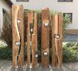 Gartendeko Aus Stein Elegant Altholzbalken Mit Silberkugel Modell 8