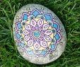 Gartendeko Aus Stein Und Metall Genial Mandalablume Auf Stein Handpaintedrock Handgefertigt