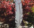 Gartendeko Edelstahl Neu Edelstahl Feder Gartenstecker Xl Gartendeko Skulptur
