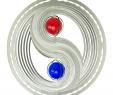 Gartendeko Edelstahl Neu Edelstahl Windspiel Yin Yang 18cm Durchmesser Mit Glaskugeln