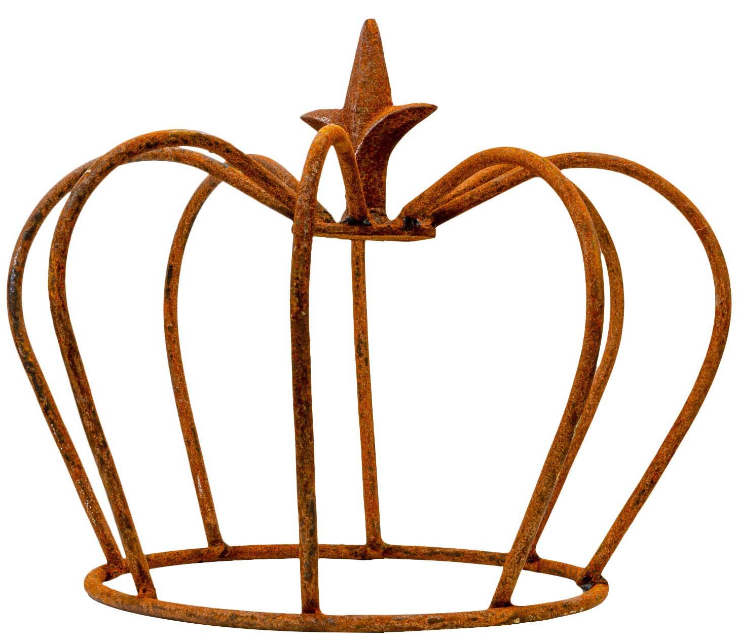 Gartendeko Eisen Inspirierend Crown Iron Lily Garden Decoration Rust Antique Style 24cm