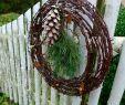 Gartendeko Eisen Rostig Genial Stacheldrahtkranz Winterlich