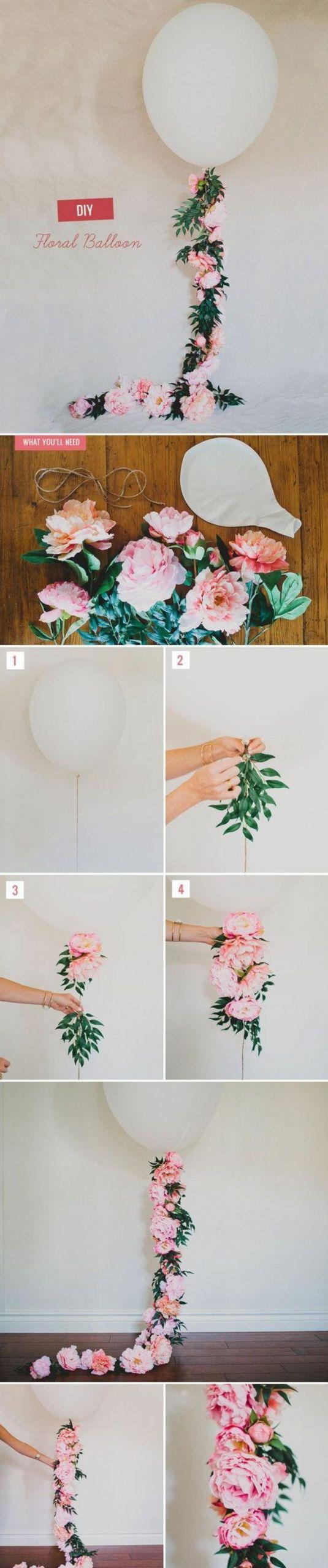 basteln fr C3 BChling balon rosen blumen fr C3 BChlingsdeko selber machen diy party deko e