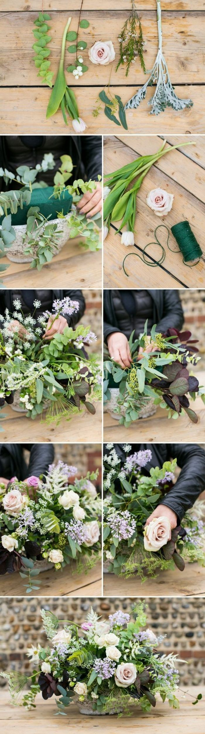bastelideen fr C3 BChling rosen blumen vase dekorieren tischdeko schere gr C3 BCner faden