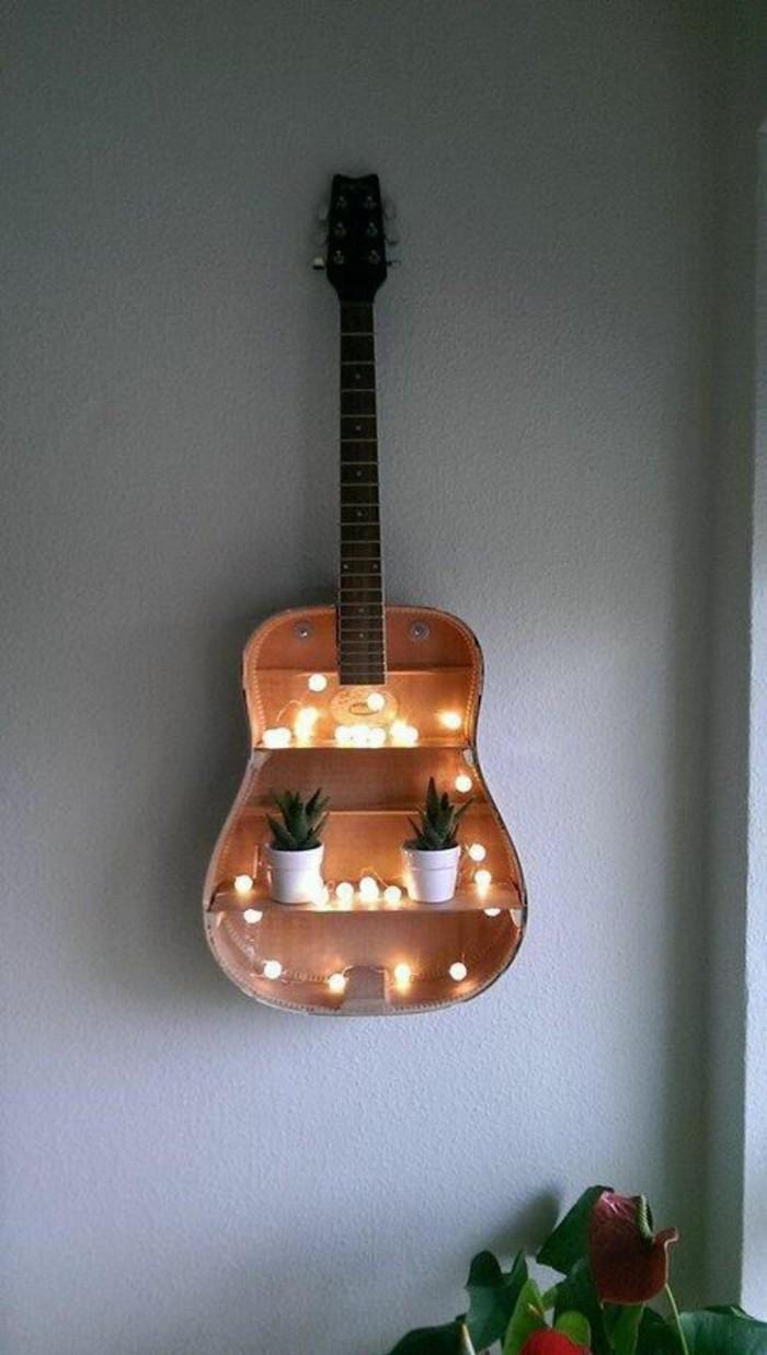 Wanddeko selber machen aus einer Gitarre