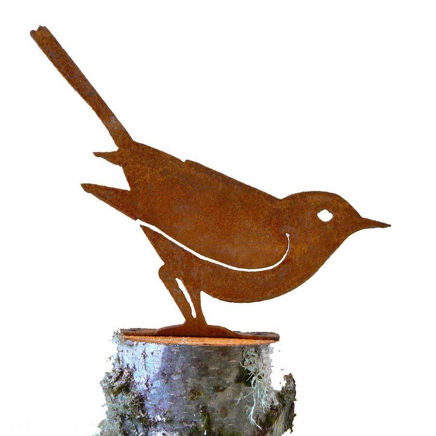 Gartendeko Groß Genial B722 Brown Thrasher Wooden Art