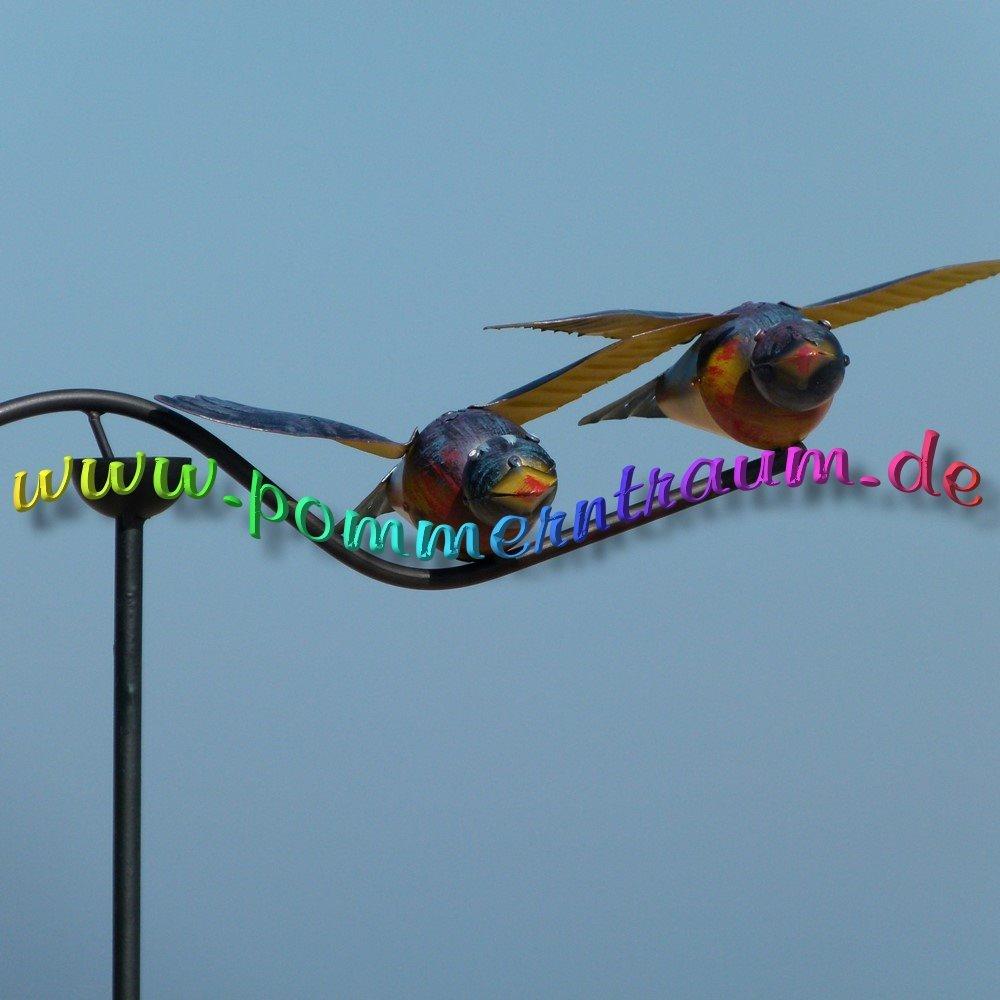 P Windspiel Metall Voegel Gartendeko Gartenpendel JPG