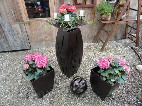 Gartendeko Säule Einzigartig Gartendeko Pflanzsäule Mit Kupfer Beschichtet
