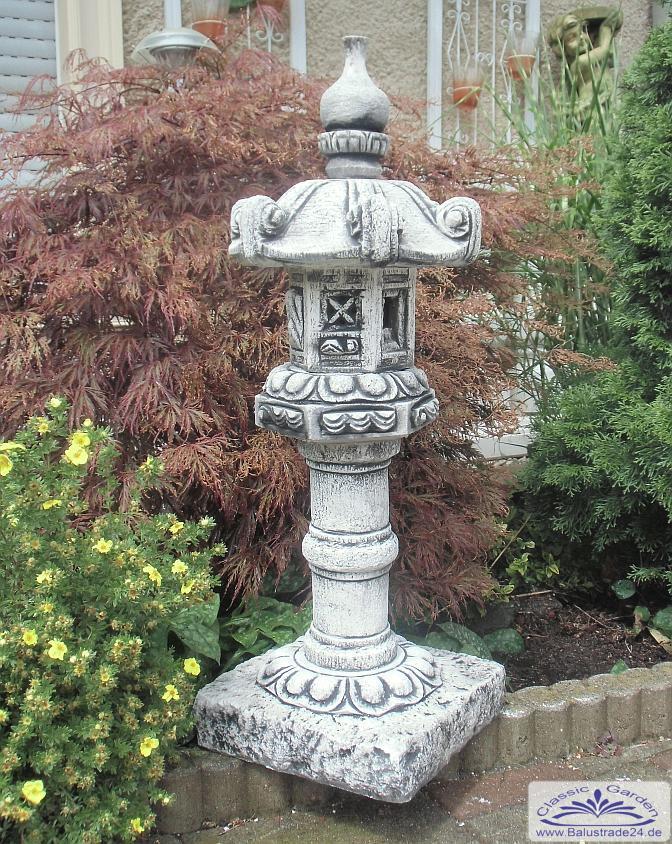 Kleine Steinlaterne Stupa Japanlampe Gartendeko fuer asiatischen Garten
