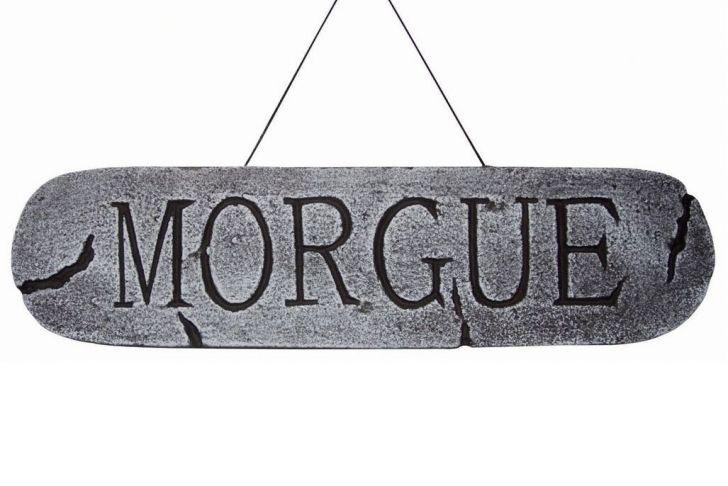 Gartendeko Schild Inspirierend Morgue Deko Schild Dekoration Für Halloween