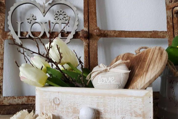 Gartendeko Shabby Luxus Pflanzgefäße Schublade Holz Garten Deko Shabby Vintage