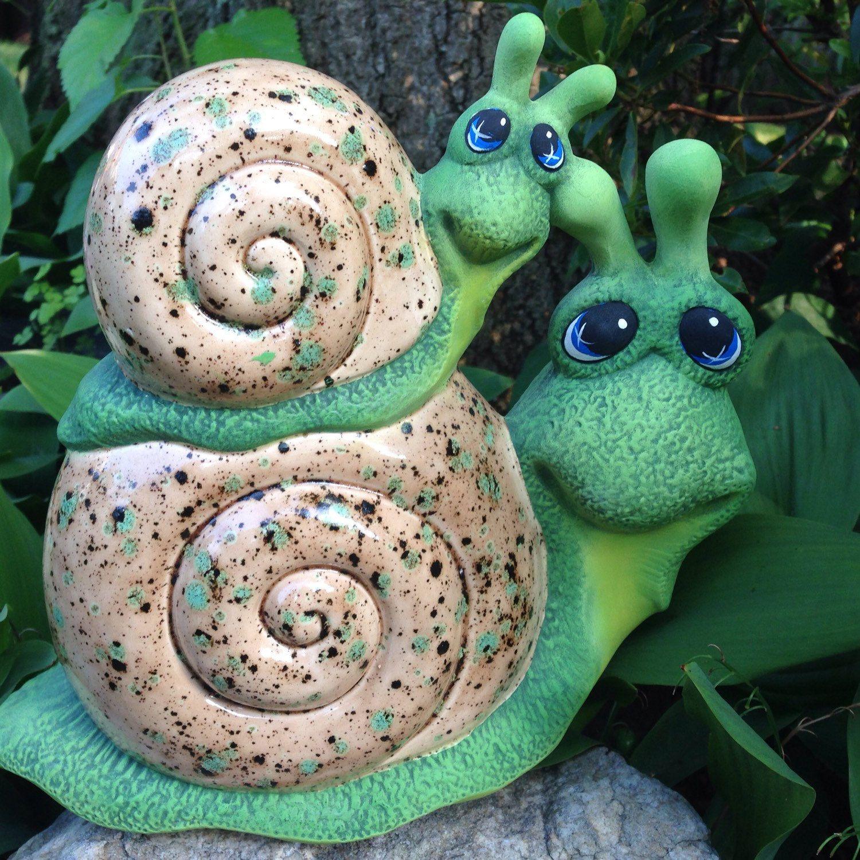 Gartendeko Shop Inspirierend Icky & Sticky Garden Art Ceramic Snails Mama and Baby