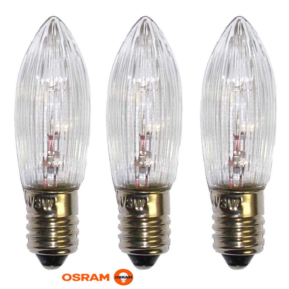 Osram 6119 3 Topkerzen Ersatzkerzen Weihnachtsbeleuchtung