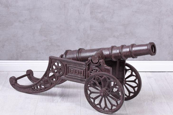 Gartendekoration Metall Elegant Kanone Gusseisen Gartendekoration Dekokanone 5kg