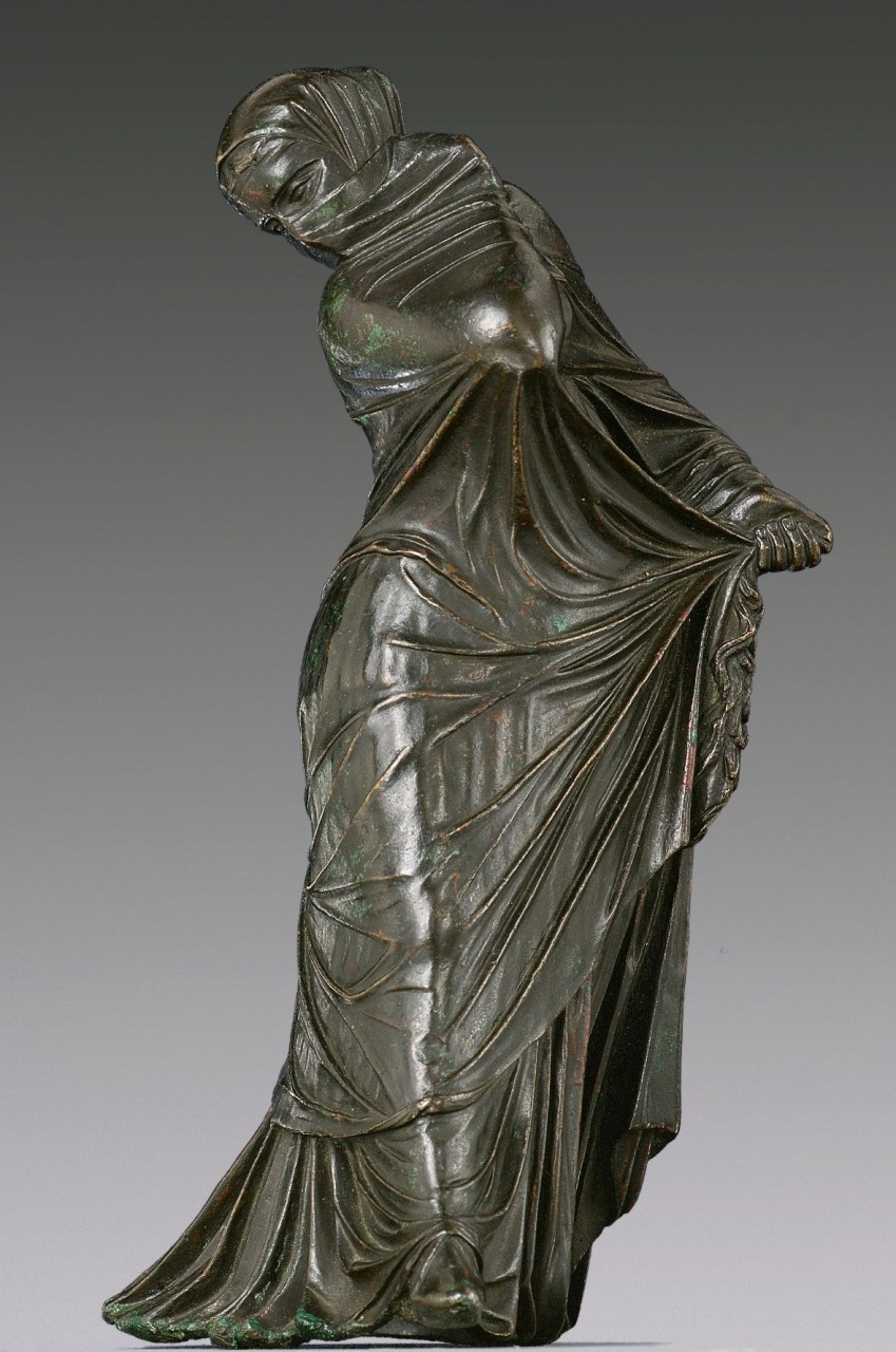 bronze ballerina sculpture bronze statuette of a veiled and masked dancer greek 2300 years of bronze ballerina sculpture
