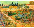 Gartengestaltung Bilder Modern Frisch 2019 Hand Painted Vincent Van Gogh Oil Paintings Canvas Bluhender Garten Mit Pfad Modern Art Landscape Wall Decor From Kixhome $101 51