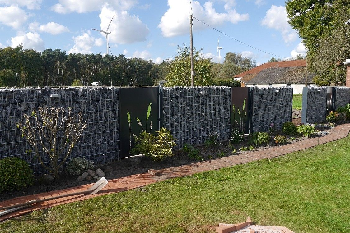 Gartengestaltung Mit Gabionen Inspirierend Gabionen Holzzaun Sichtschutz Zaun torsysteme Avec