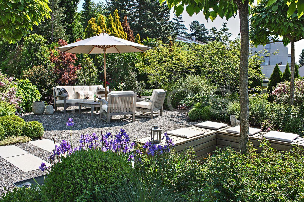 Gartengestaltung Mit Wasser Inspirierend Pflanzplanung Sitzplatz Bepflanzung