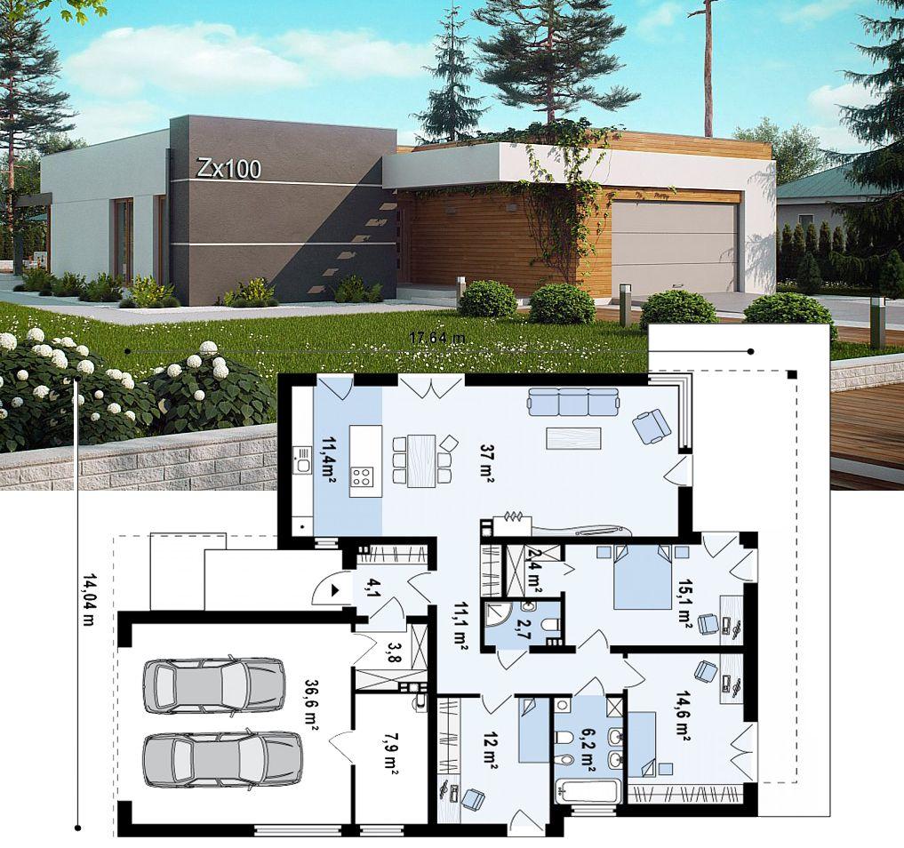 Gartengestaltung Modern Schön Проект дома Zx100 представРяет вашему вниманию боРьшой