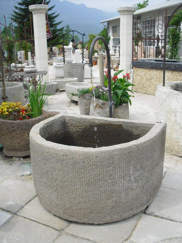 Gartengestaltung Naturstein Schön Antiker Brunnen Aus Naturstein