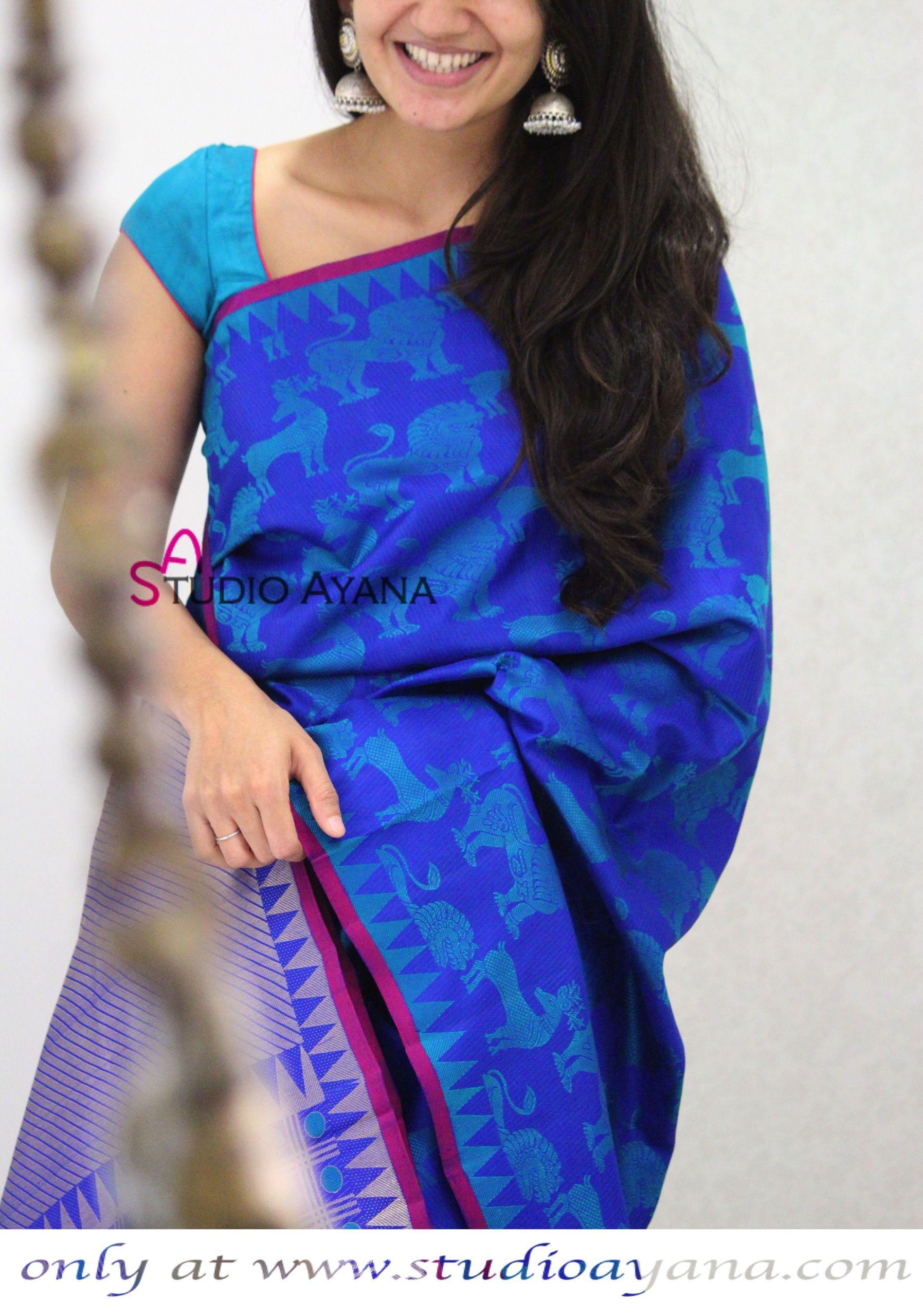 Gartengestaltung Online Schön Simhavarnam Handcrafted Kanchipuram Silk Saree From Studio