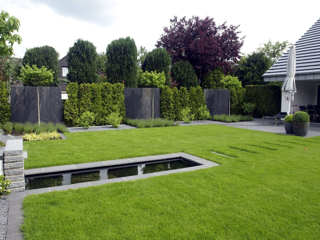 Gartengestaltung Steingarten Schön Gärten Geradlinig Gestaltet