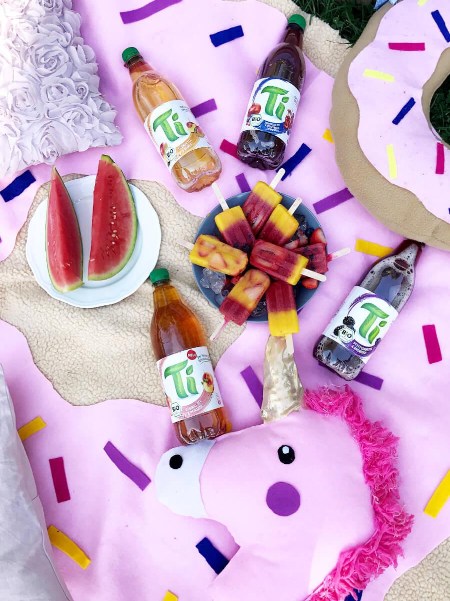 Picknick Deko Ideen Sommer Eis am Stil selber machen DIY Blog