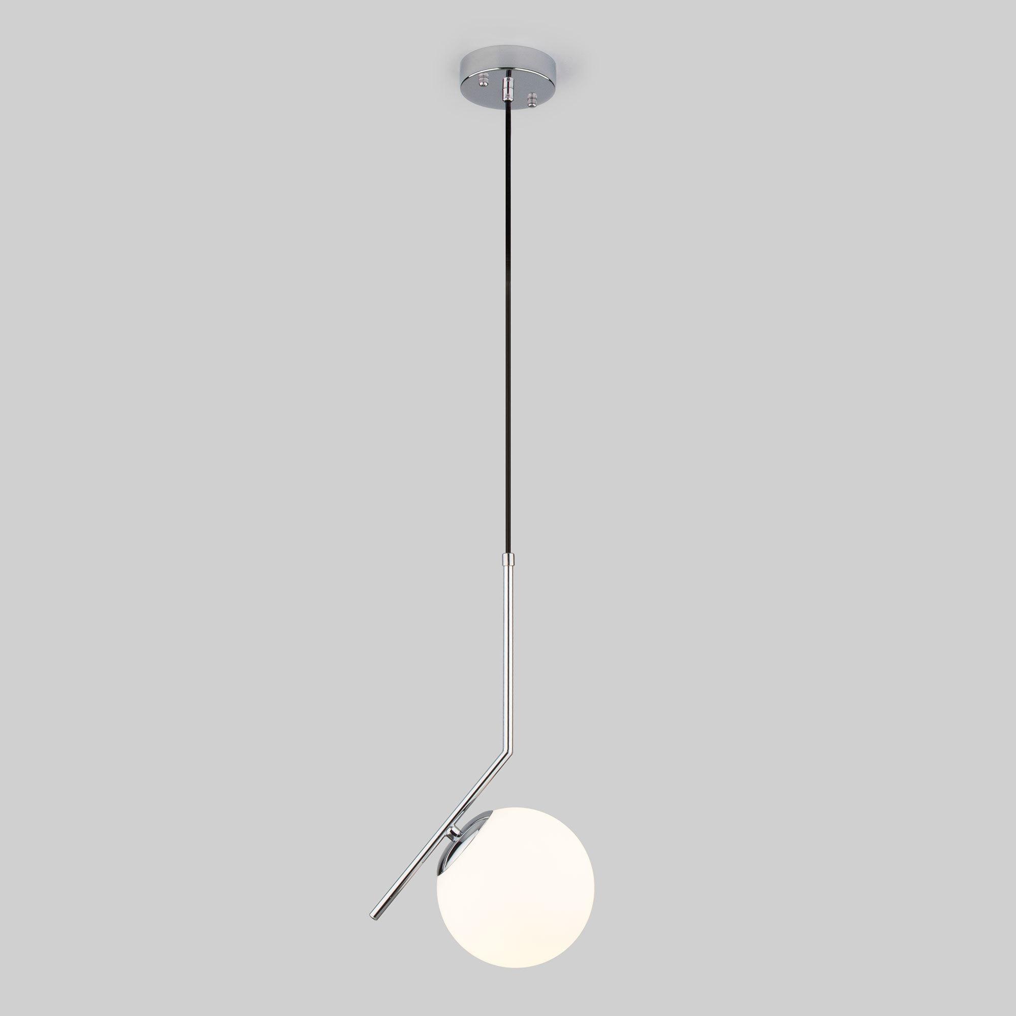 Подвесной светильник со стеклянным плафоном Eurosvet Frost 1 хром