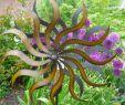 Gartenstecker Metall Großhandel Neu Windspiel Gartenstecker Windrad sonne Metall Gartendekorat