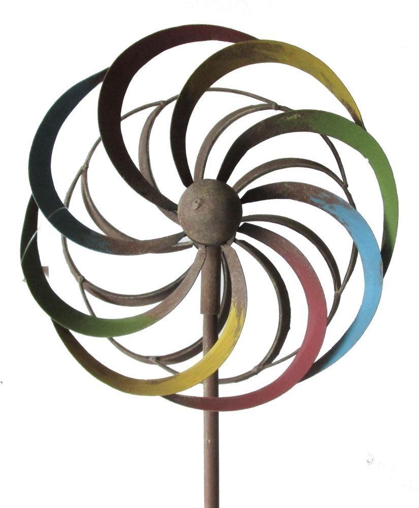 Gartenstecker Rost Inspirierend Windrad Rost Farbig Bunt Metall Gartenstecker 21 5 Cm