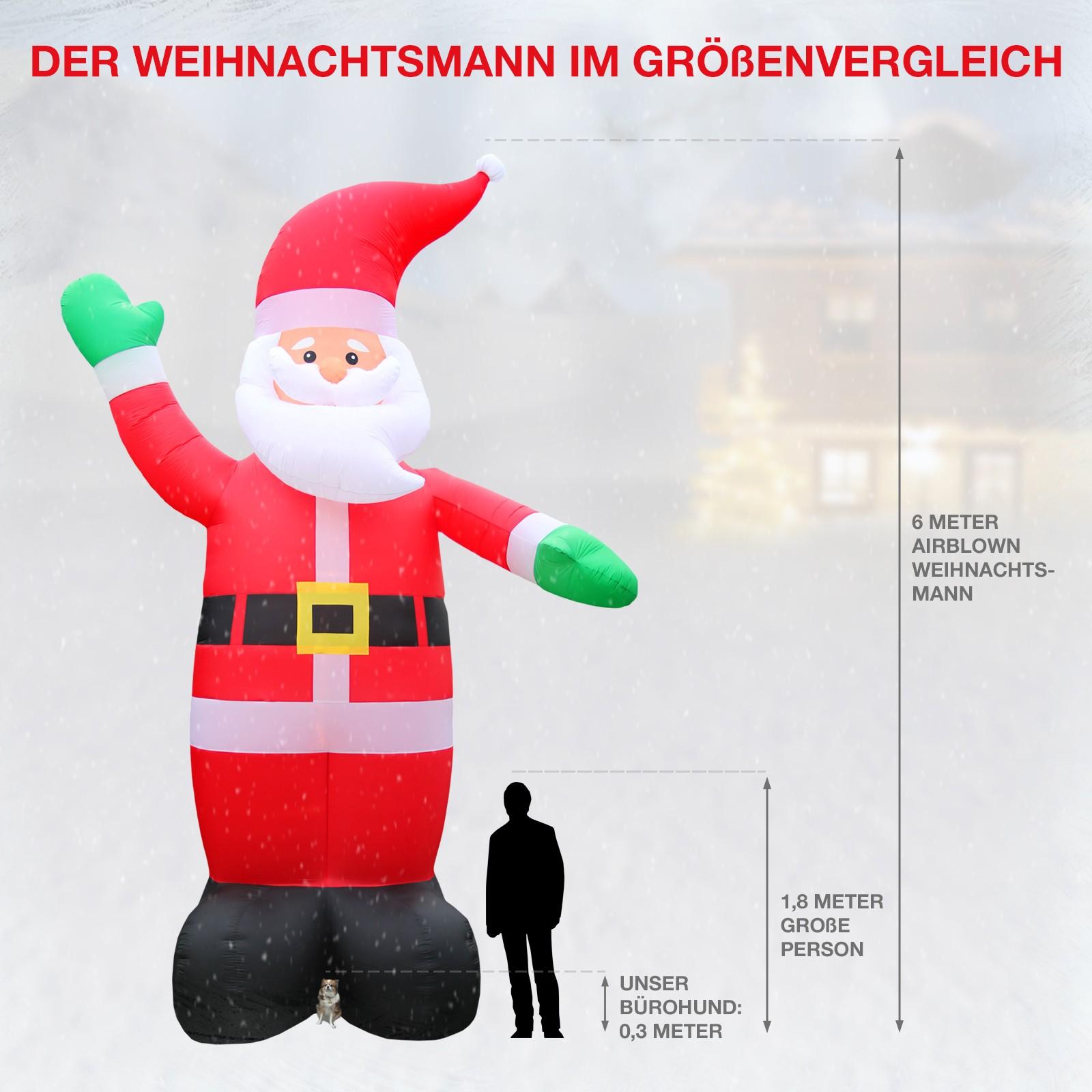 weihnachtsdeko xxl weihnachtsmann