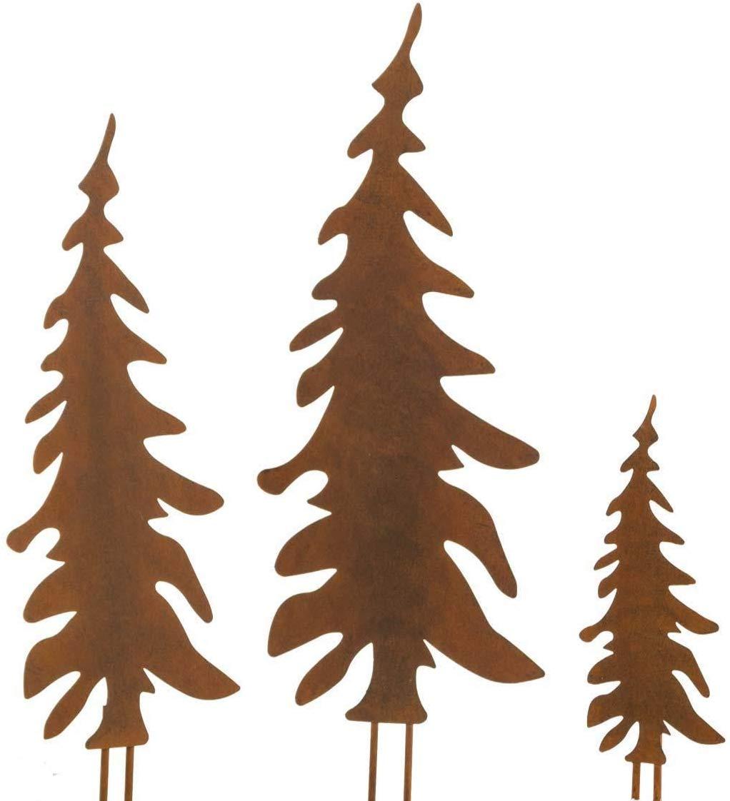 Gartenstecker Rost Weihnachten Neu Pureday Weihnachtsdeko Gartenstecker Set Tannenbaum Metall Rost Optik 3 Stück