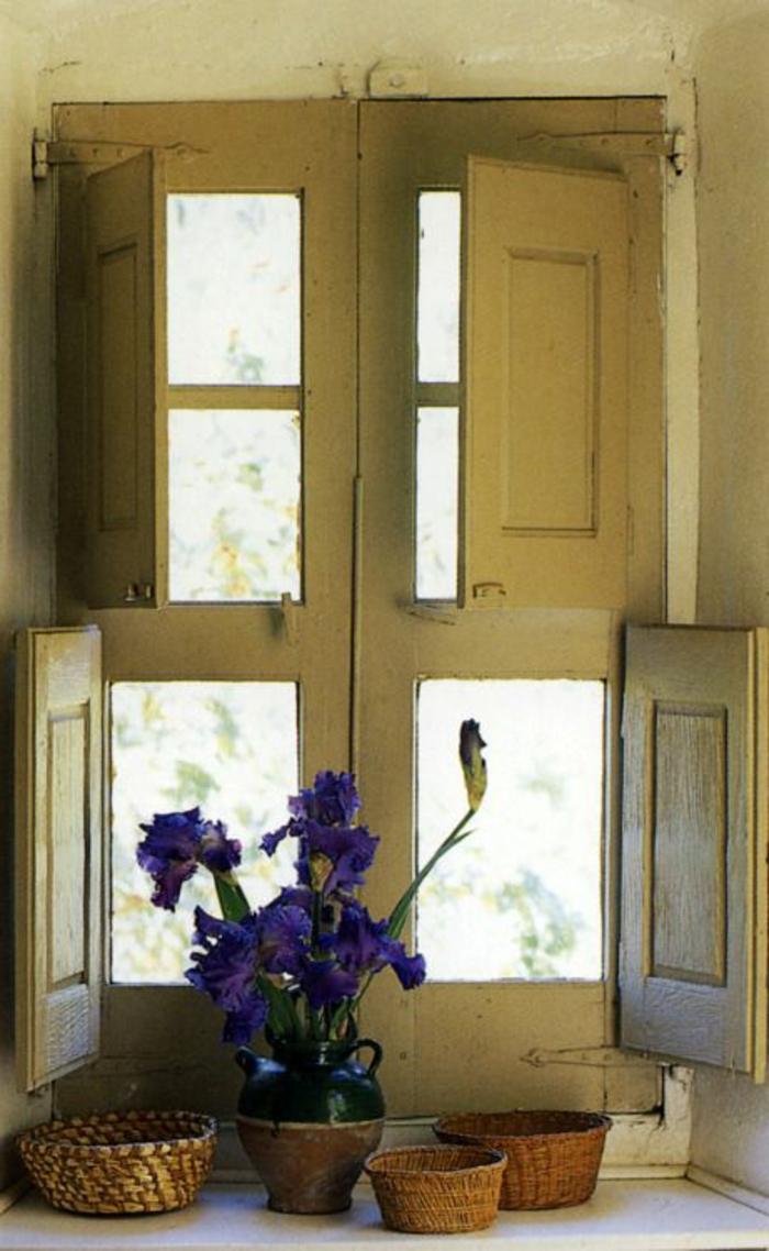K C3 BCche vintage Fenster alte L C3 A4den Blumentopf