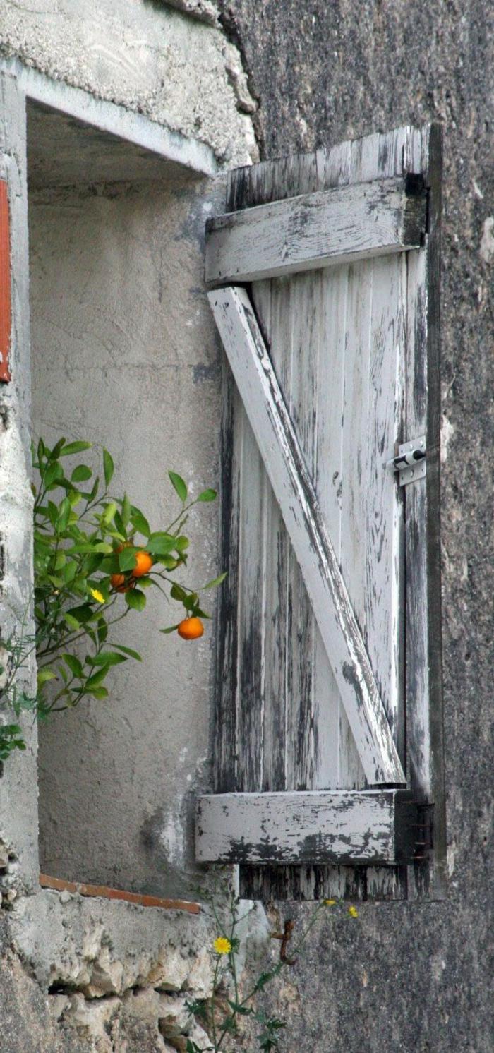 Fenster Mandarinen Zweig h C3 B6lzerne vintage L C3 A4den
