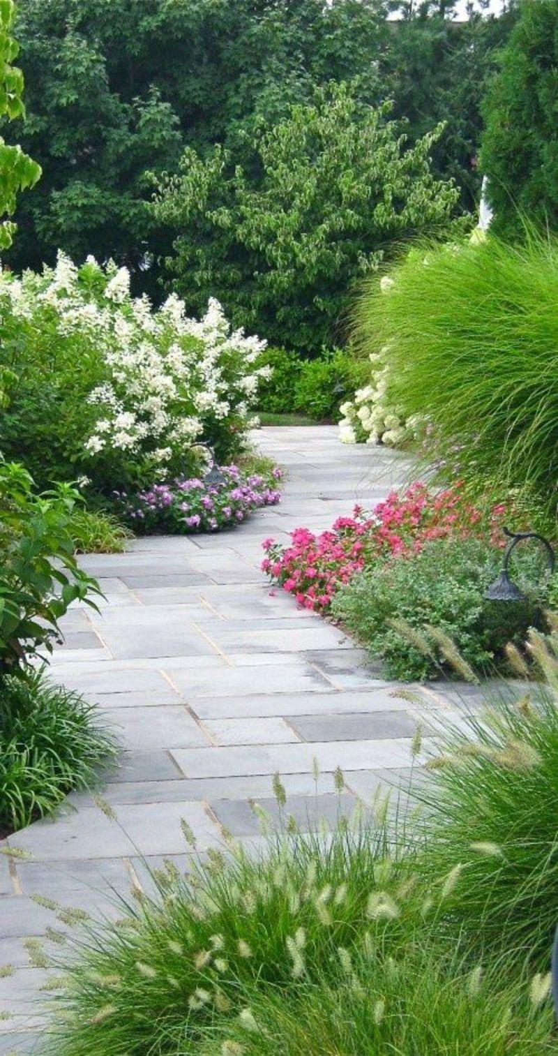 kreative Gaertenideen Gartenarbeit Gartenweg Stein Gartenpflanzen