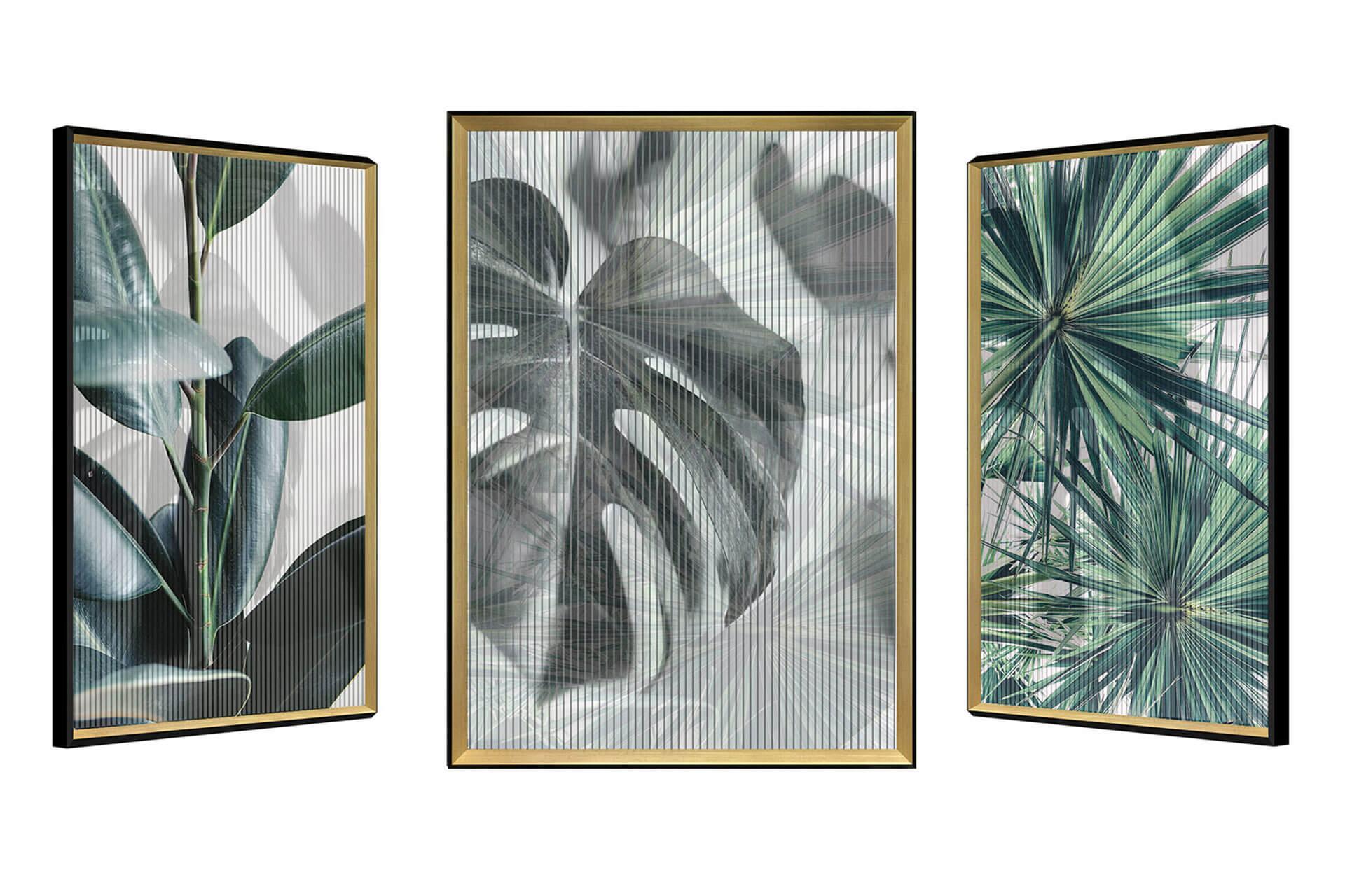 kl farne tropen gruen kunstloft modern 3d wechselbild bild deko wand 01