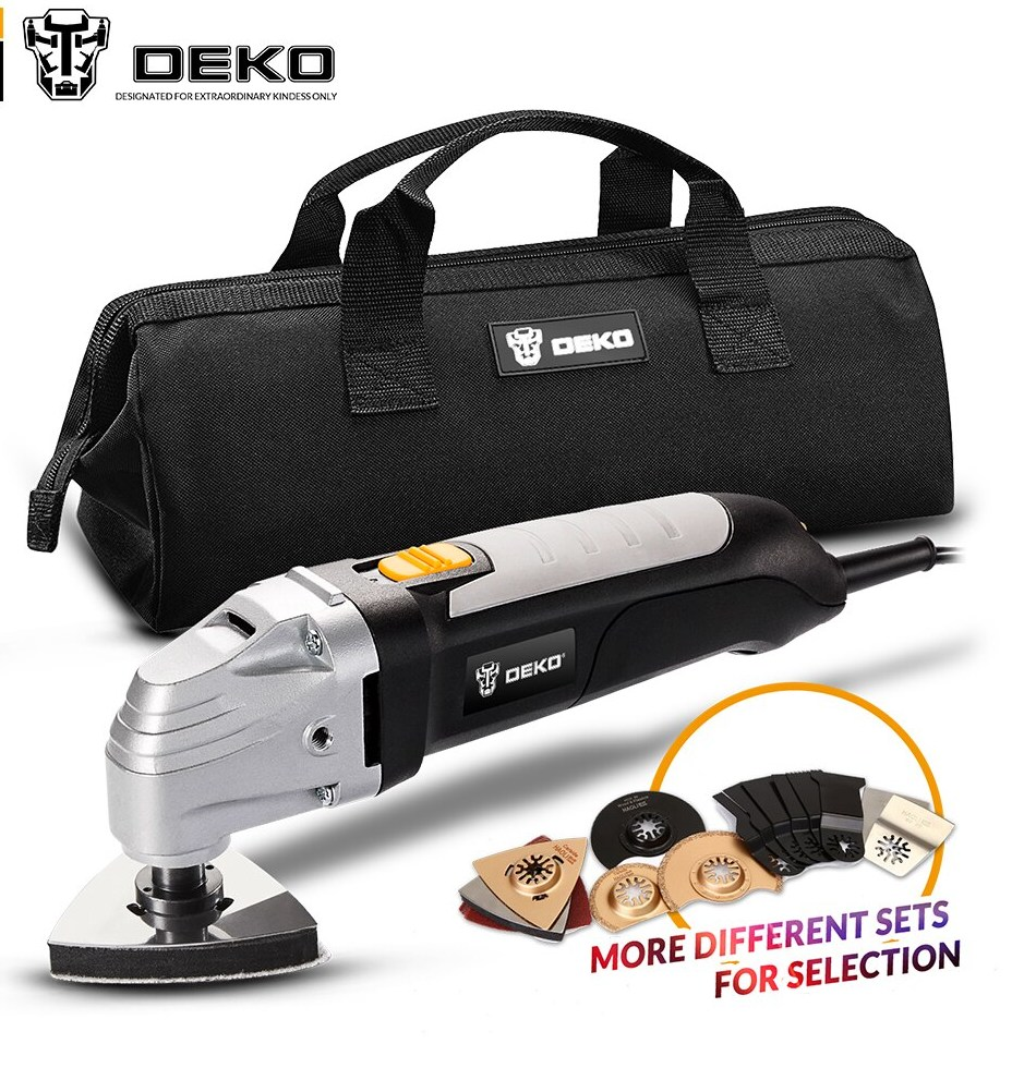 font b DEKO b font 110V 220V Variable Speed Electric Multifunction Oscillating Tool Kit Multi