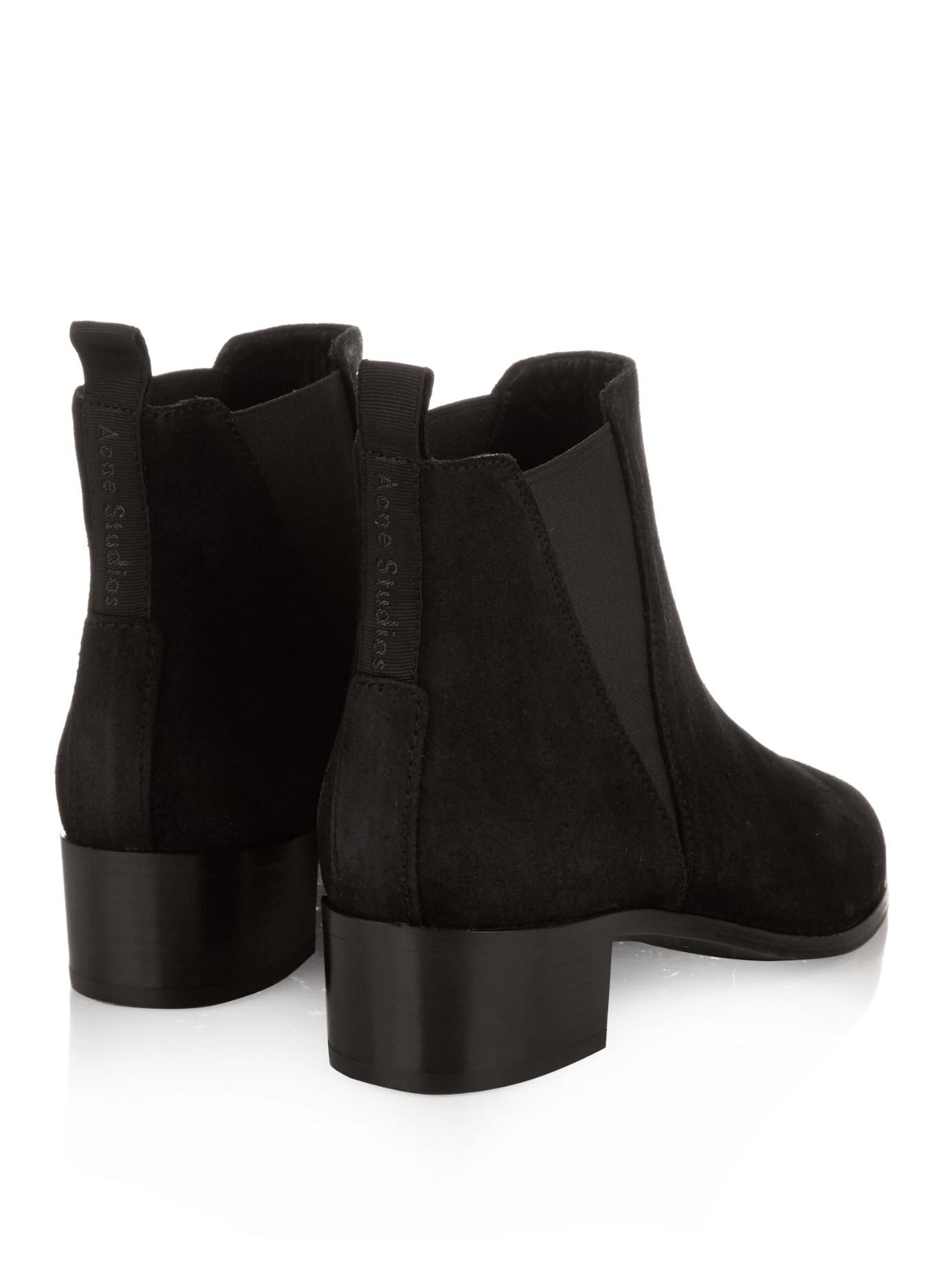 acne studios black jensen suede chelsea boots product 0 normal