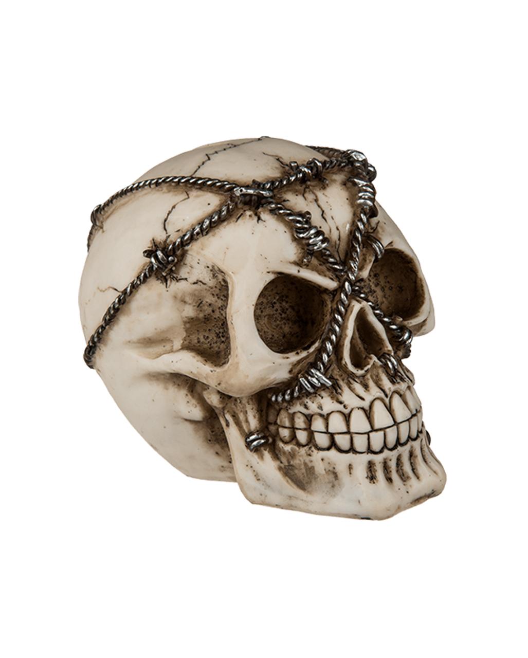 spardose totenkopf mit stacheldraht gothic geschenkidee totenschaedel gothic geschenkartikel